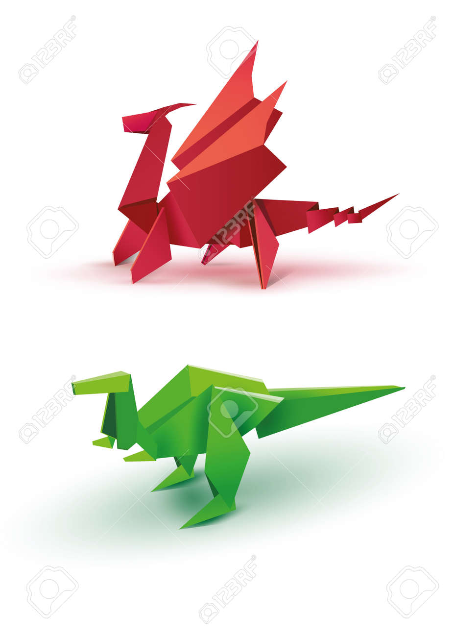 How To Make A Paper Dinosaur - Origami Dinosaur Easy And Fast ... | 1300x927