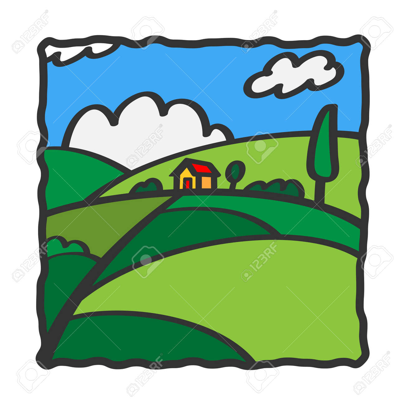 House on the hill Stock Photo - 13942191