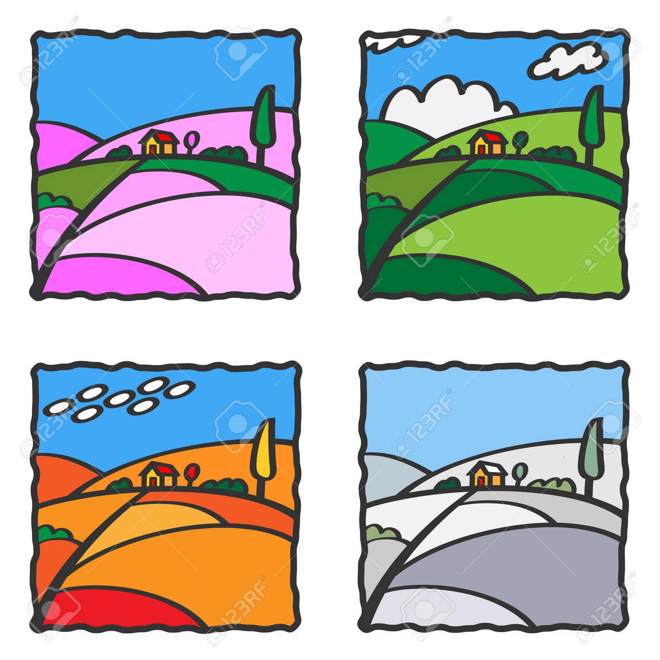 Four seasons Stock Photo - 13942186