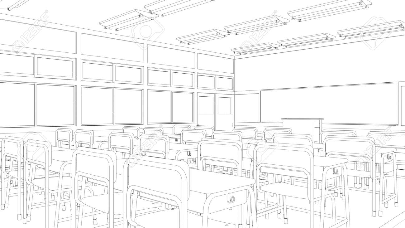 Uncategorized Drawing Of A Classroom line drawing of classroom stock photo picture and royalty free 38419602