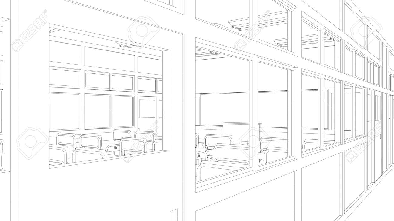 Uncategorized Drawing Of A Classroom line drawing of classroom stock photo picture and royalty free 38419605