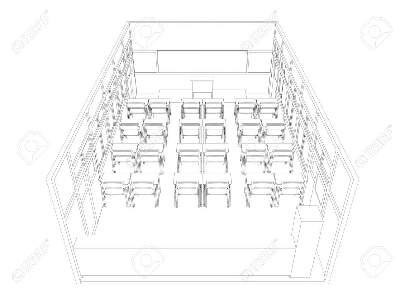 Uncategorized Drawing Of A Classroom line drawing of classroom stock photo picture and royalty free 38419608