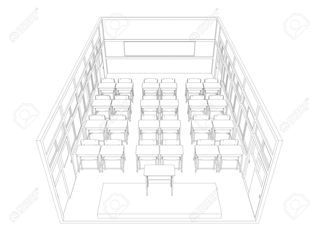 Uncategorized Drawing Of A Classroom line drawing of classroom stock photo picture and royalty free 38419610
