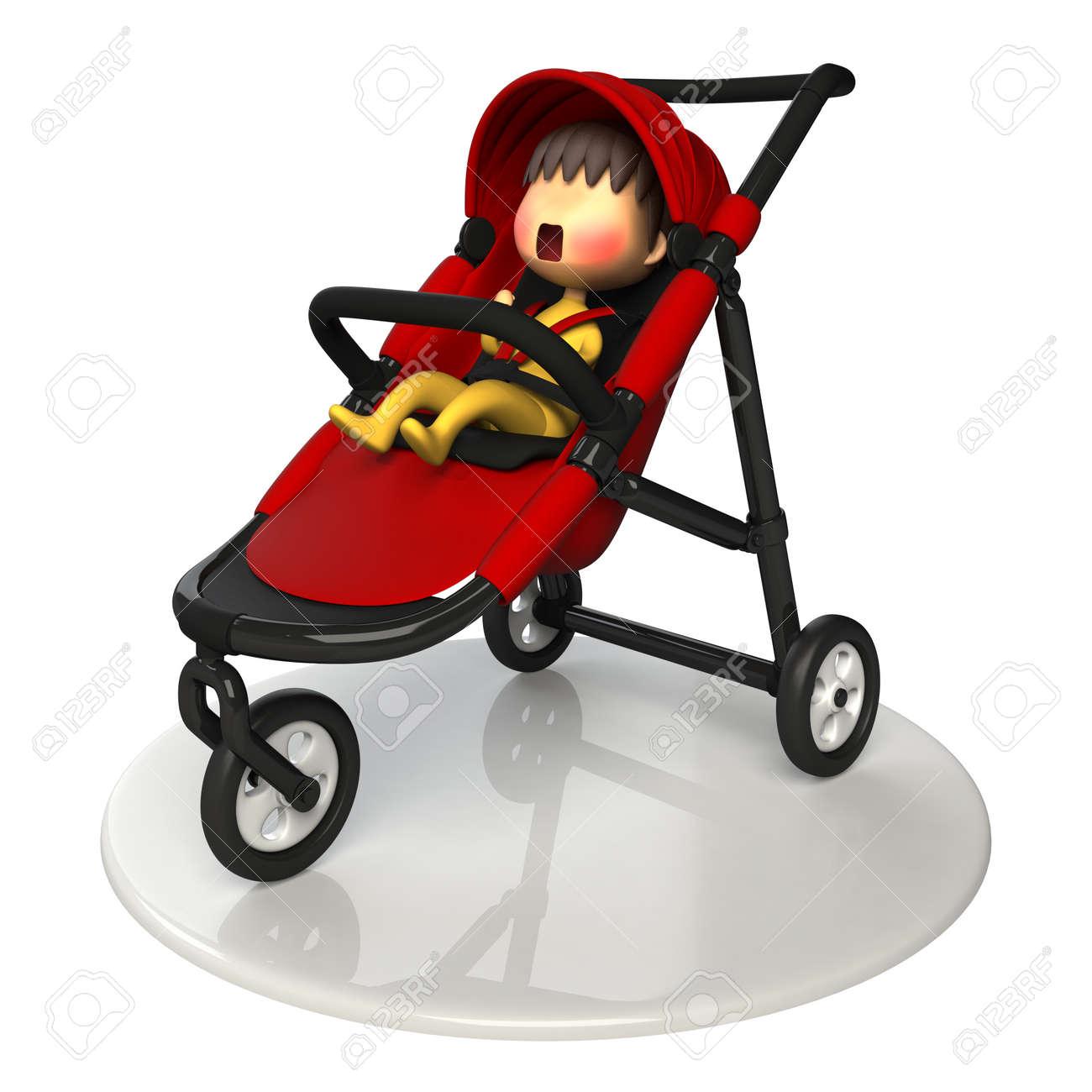 Bébé Dans La Poussette Banque D Images Et Photos Libres De Droits ... c0a1a5352038