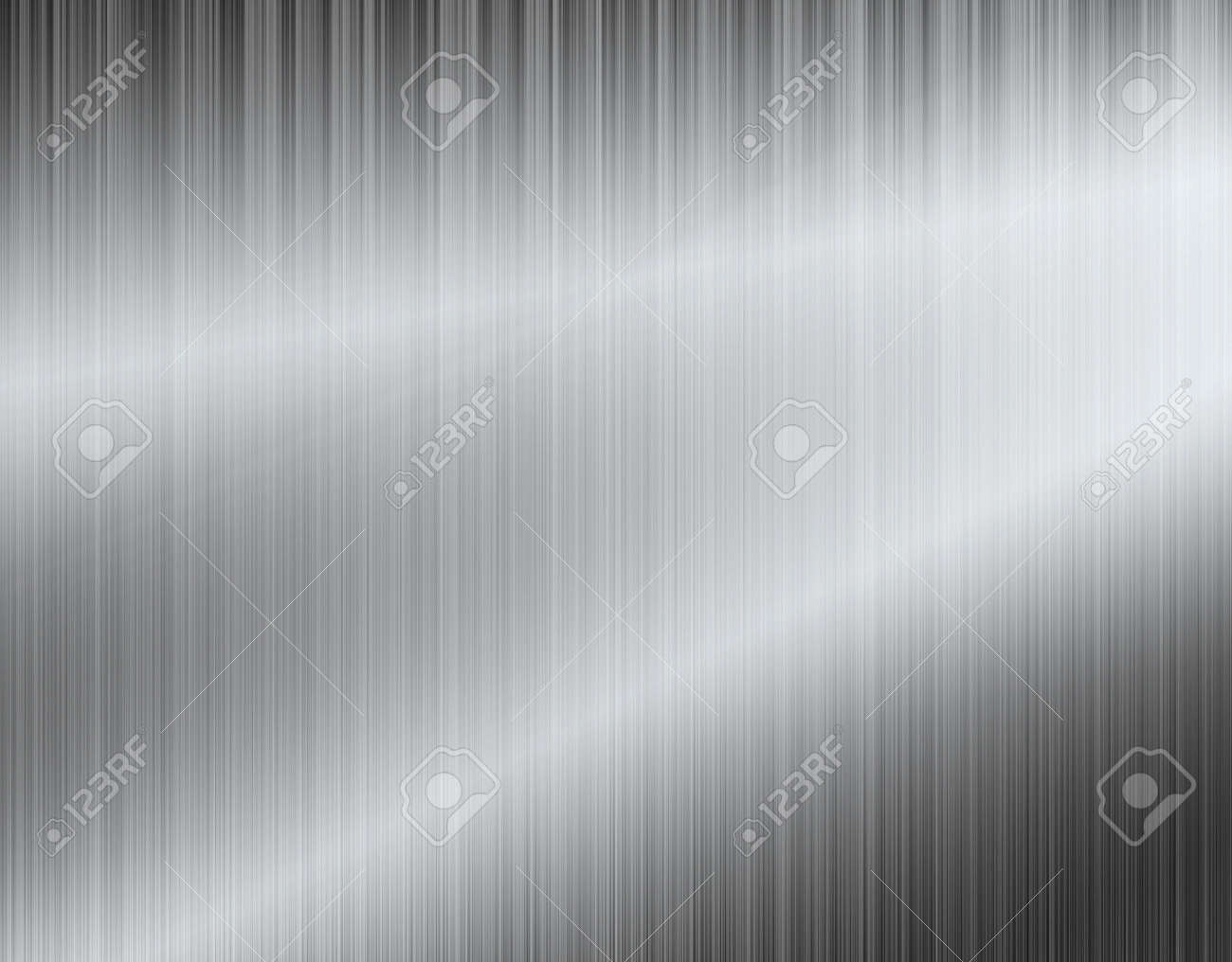 Metal background or texture of brushed aluminum plate - 143221484