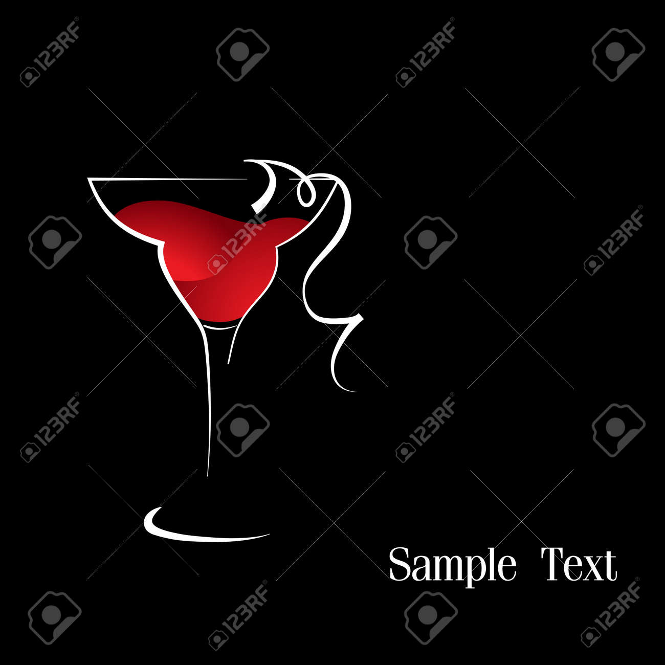 A wineglass of red wine Stock Vector - 16910561