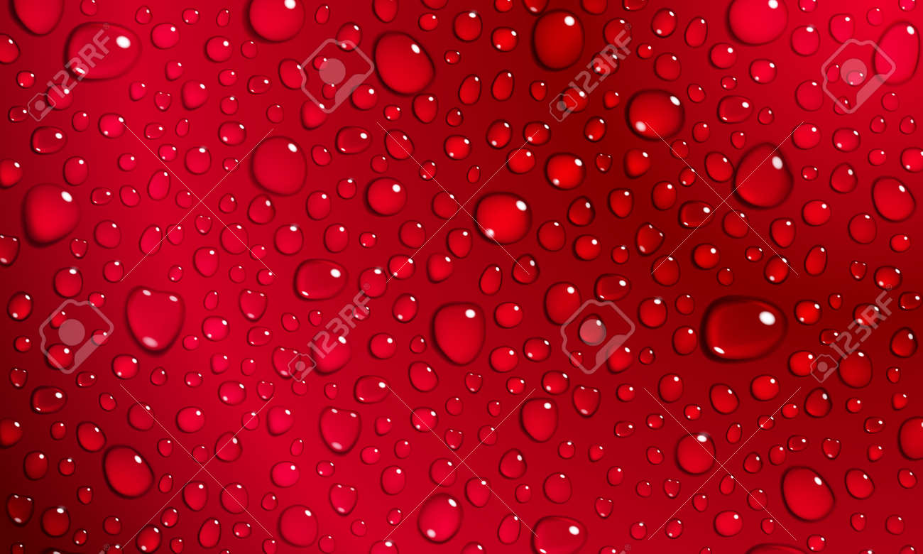 background of water droplets on the surface in red colors stock vector 39566076