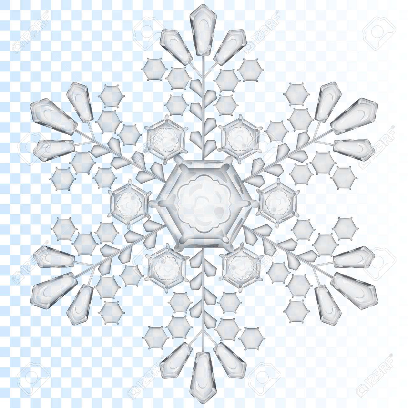 Copo De Nieve Transparente Grande De Color Gris. Transparencia Sólo ...