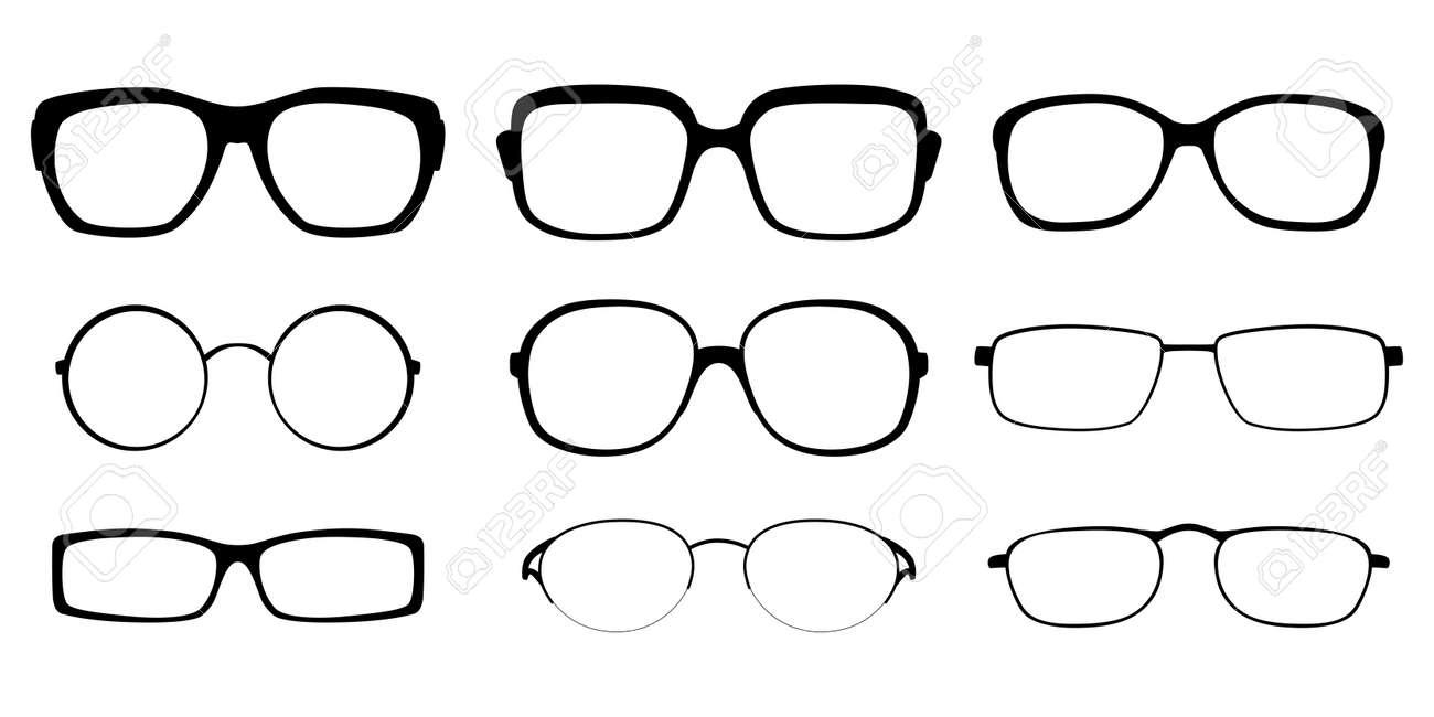 Set Von Brillenfassungen Auf Weißem Hintergrund Lizenzfrei Nutzbare ...