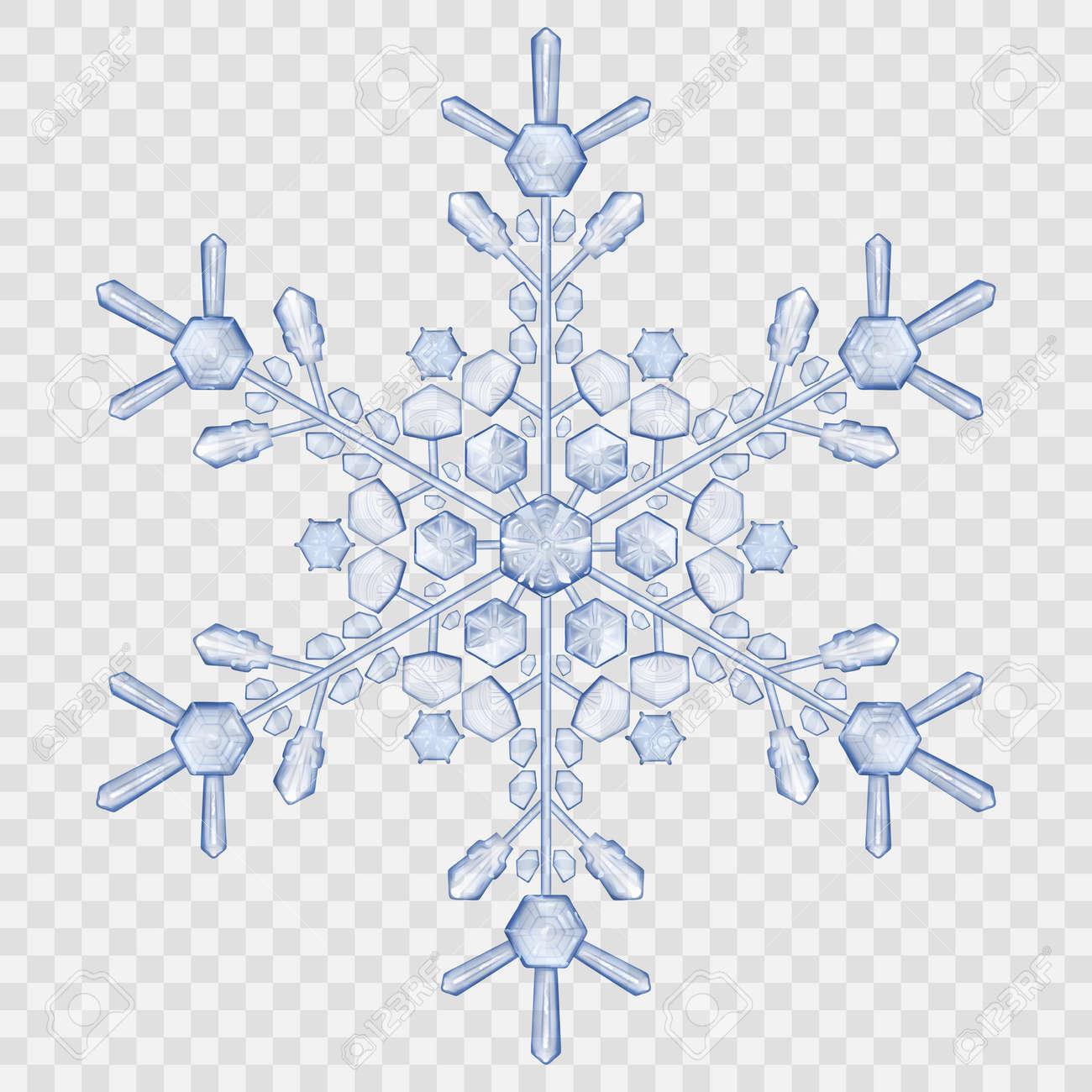 Grandes Copos De Nieve De Cristal Translúcido En Colores Azules ...