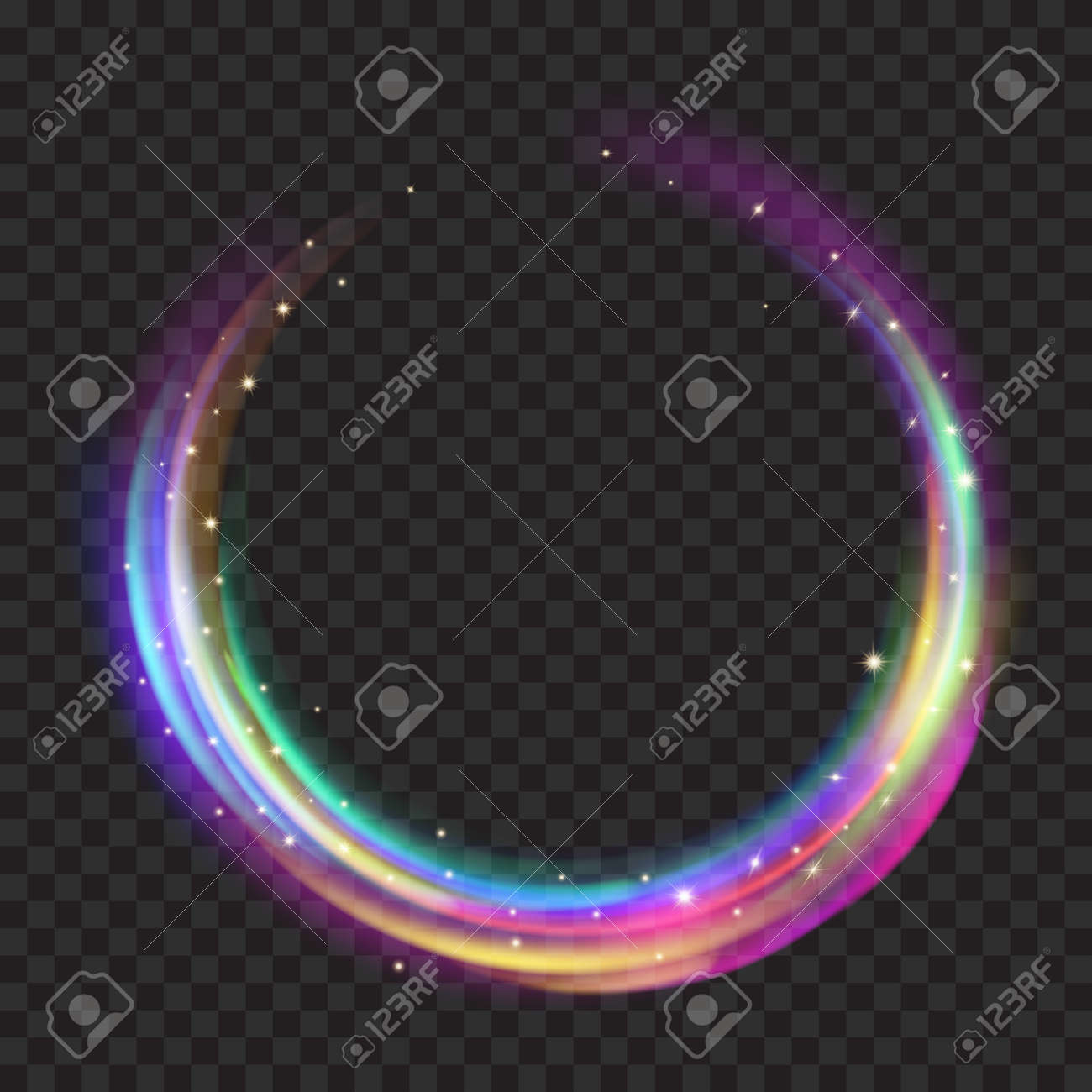 glitter photo effects stock for light dar with transparent used glowing vector rings multicolored fire background on