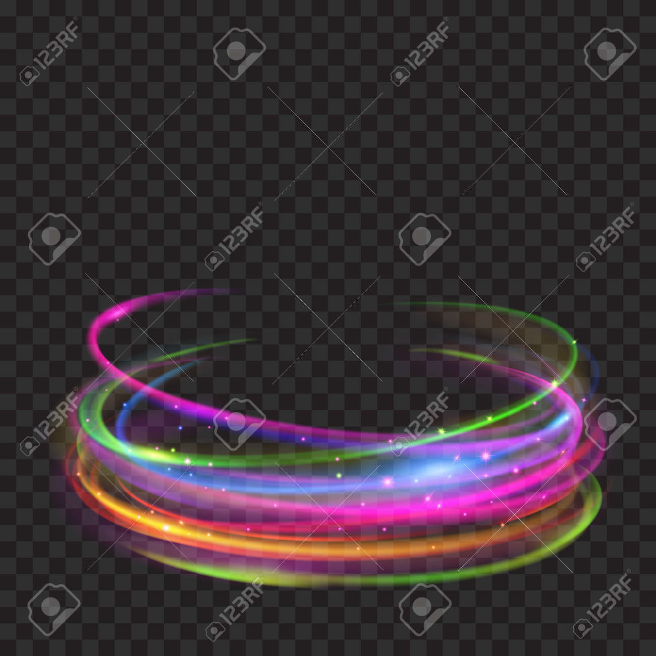fire colors effects stock vector image rings light gray in glowing glitter with