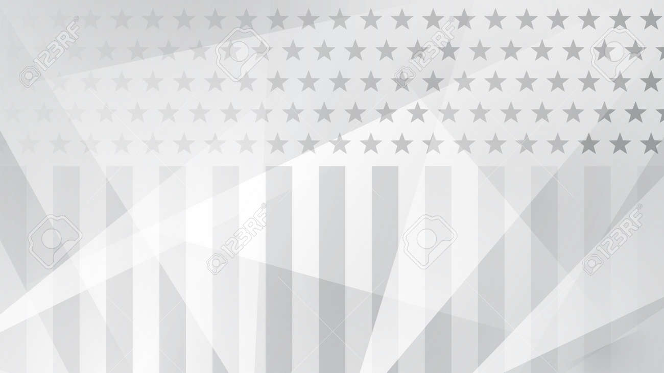 Independence day abstract background with elements of the American flag in gray colors - 100543441