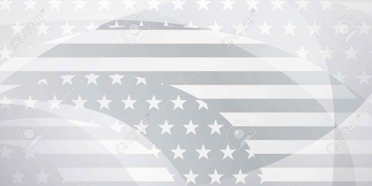 USA independence day abstract background with elements of american flag in gray and white colors - 168590001