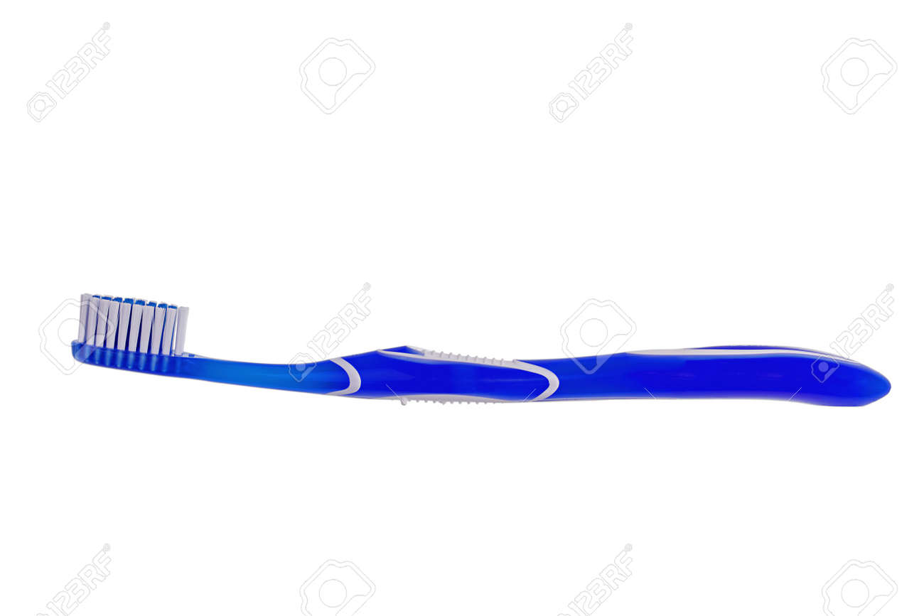 isolated blue toothbrush Stock Photo - 27018964