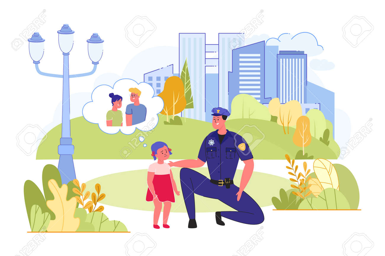 Police Helped Children Images, Stock Photos & Vectors   Shutterstock