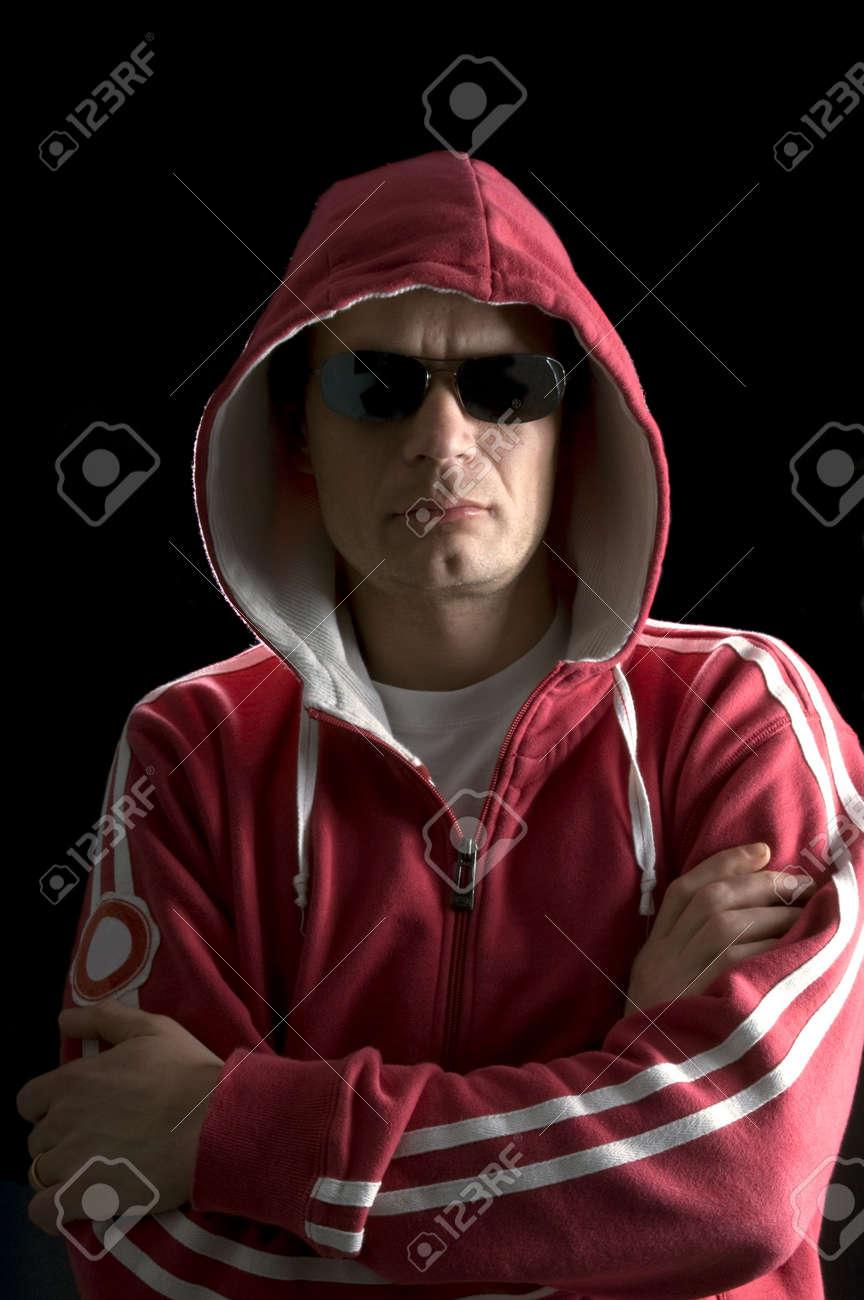 A grim looking Hoodlum wearing sunglasses Stock Photo - 2367854