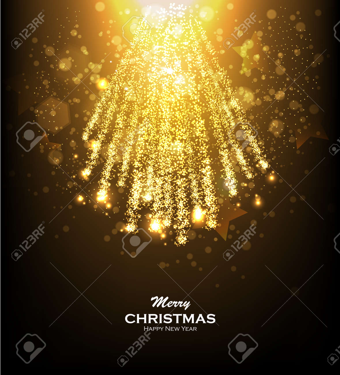 low priced 48fcb 6cad7 Gold glittering bokeh stars dust. Christmas background with gold..
