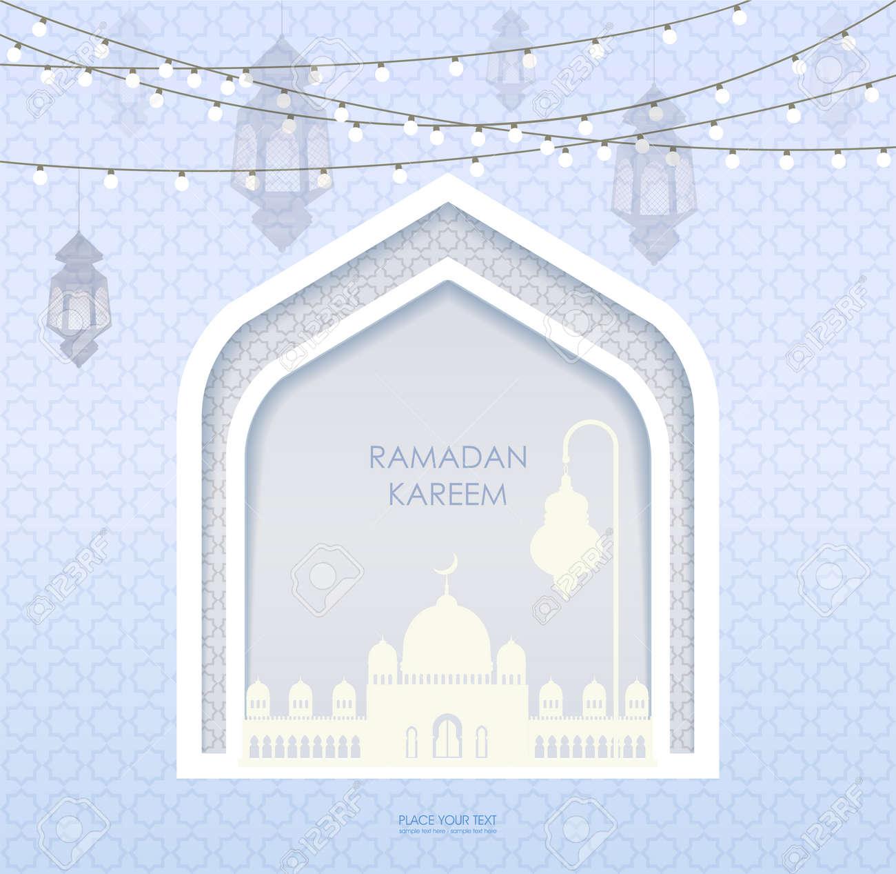 Eid al adha  Greeting card template on Eid Al-Fitr muslim religious