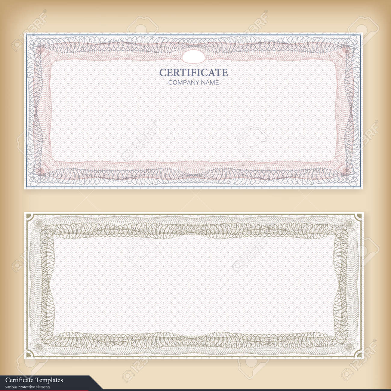 Vintage Certificate Template With Watermark Ornate Gift Certificate