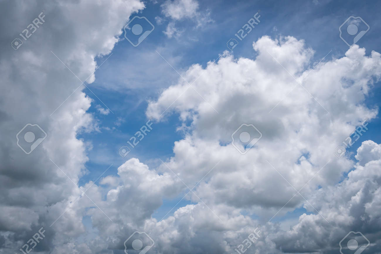 The Blue Sky With Moving White Clouds The Most Of Clouds Are Stock Photo Picture And Royalty Free Image Image 158659410