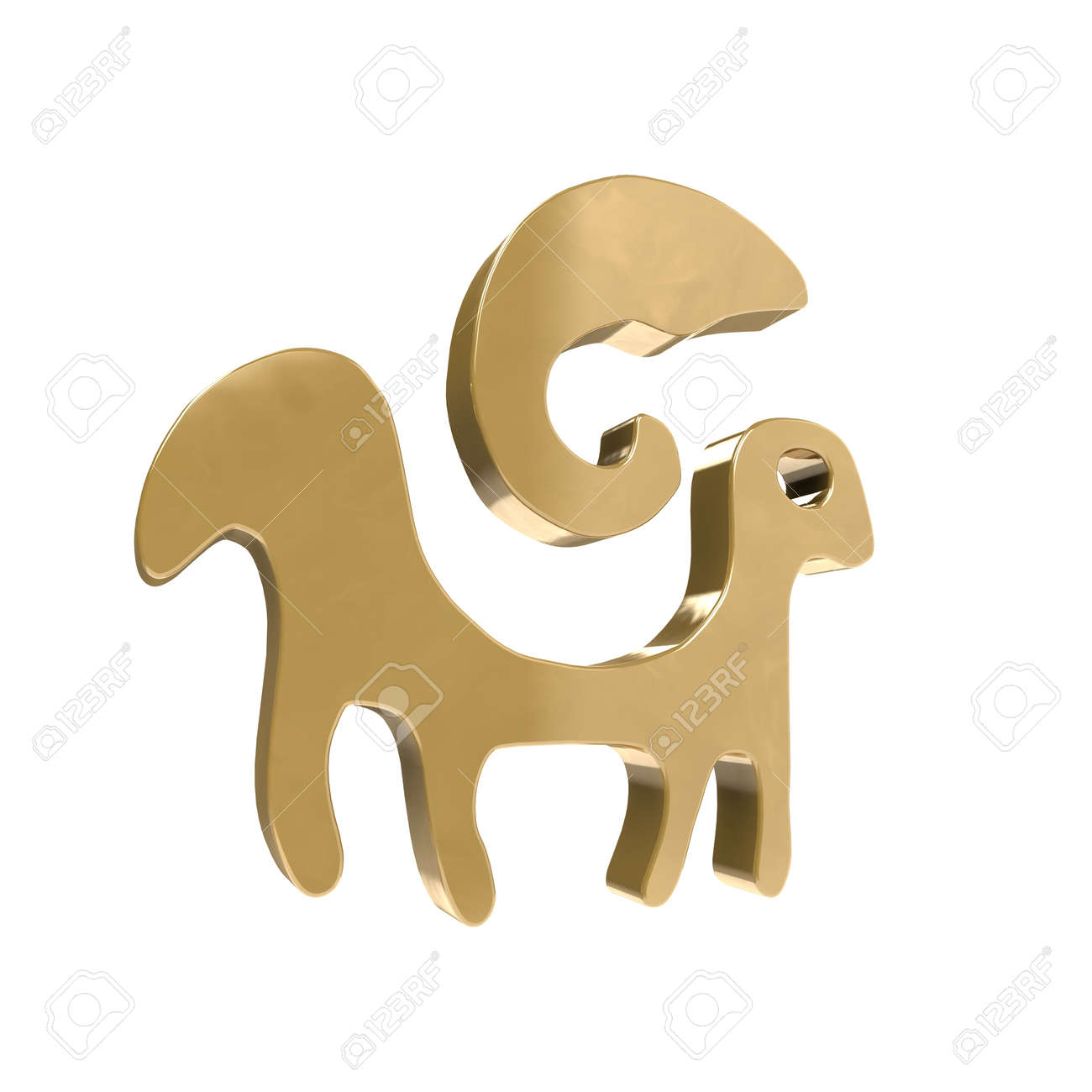 The star sign is Aries in astrology a feature for the time in which we are born. Stock Photo - 19773120