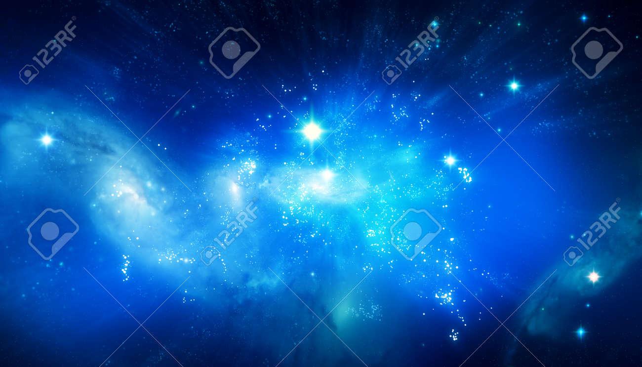 Beautiful blue galaxy background Stock Photo - 15661090