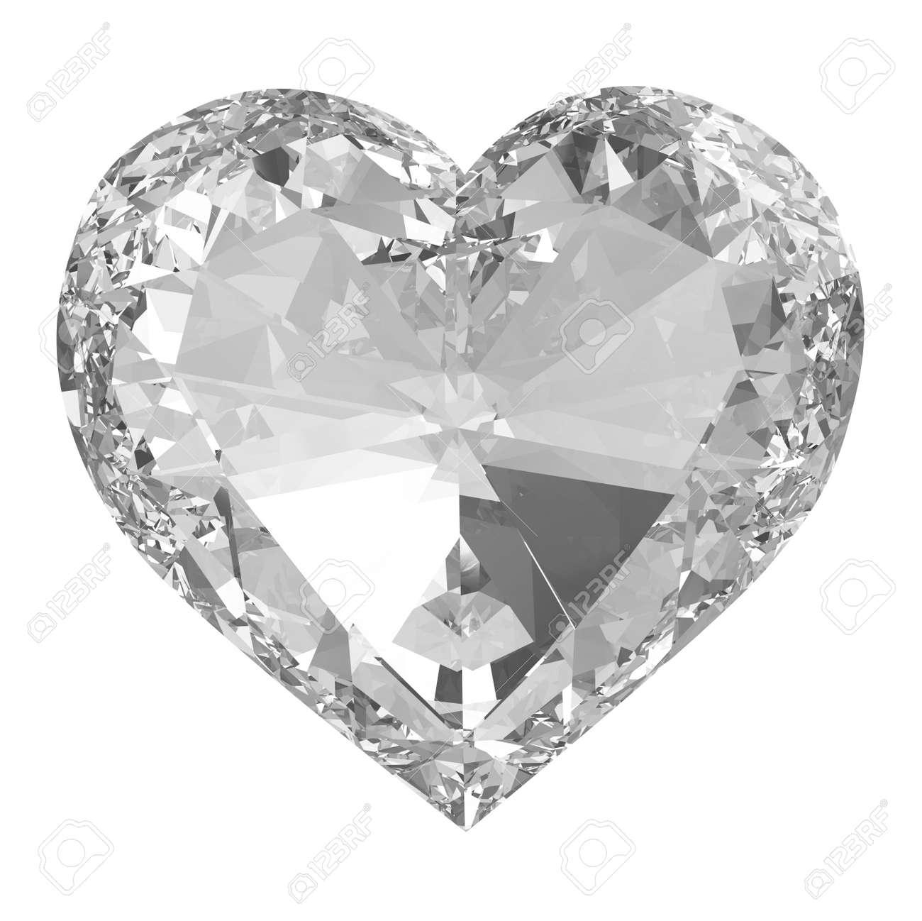 Diamond heart isolated Stock Photo - 17497951