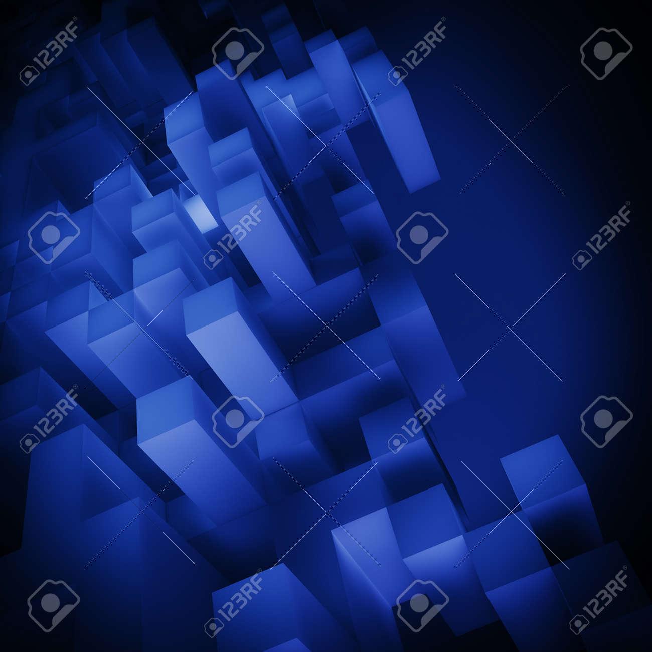 青色キューブ合成壁紙 の写真素材 画像素材 Image 18935998
