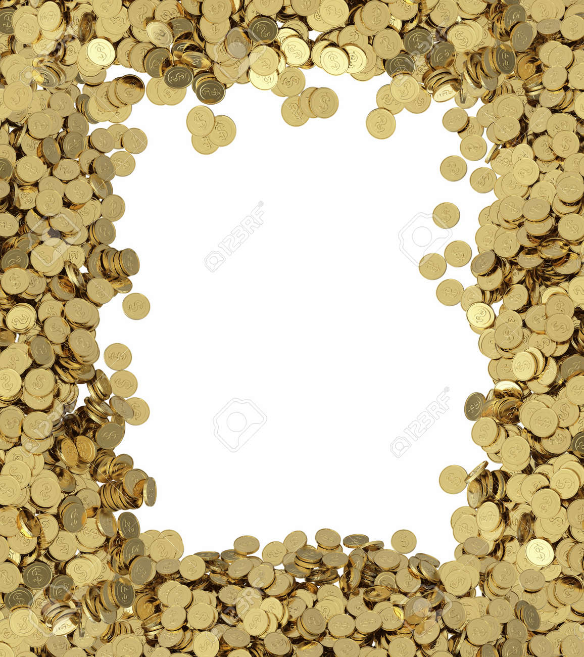 golden coins background with place for text - 19611258