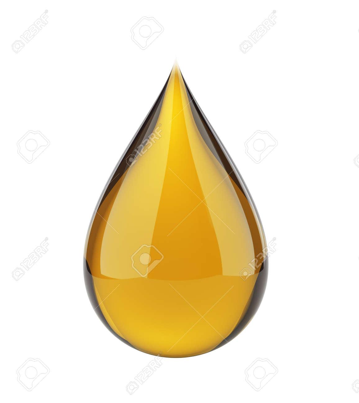 Oil drop on white - 25588131