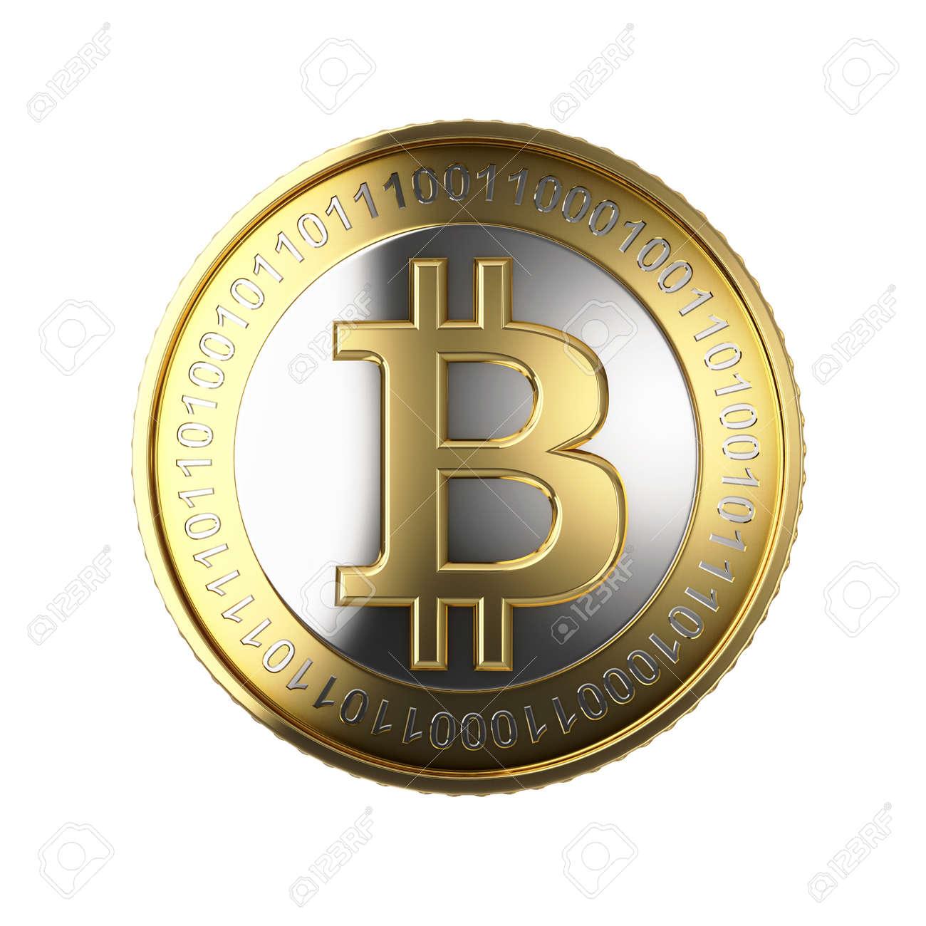 Golden Bitcoin digital currency - 25589051