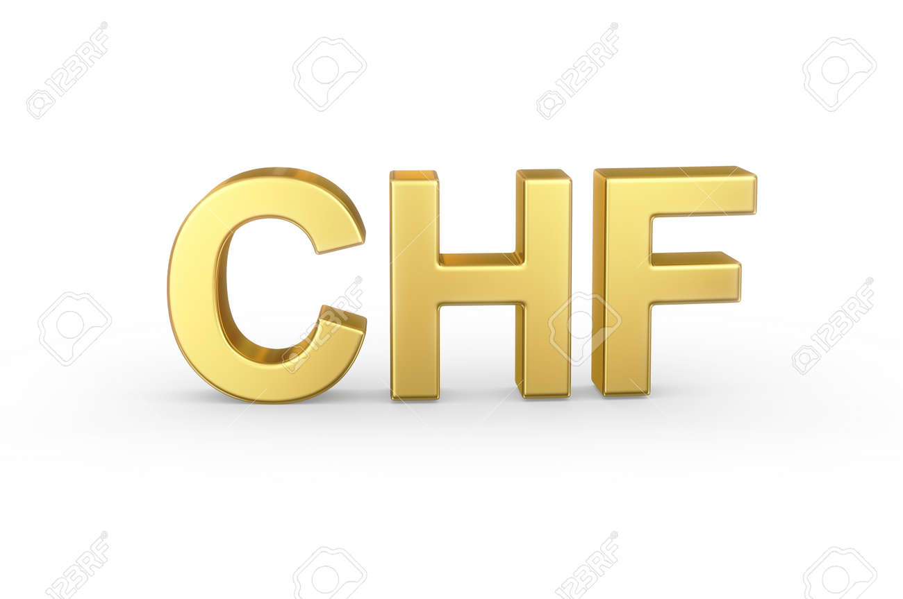 Golden 3d Chf Currency Stock Photo Picture And Royalty Free Image