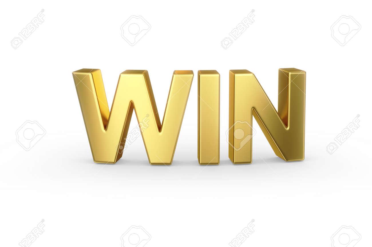 3D golden WIN word - 25588778