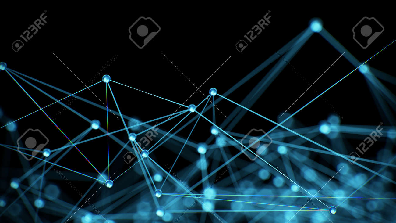 Abstract internet network communication concept background - CG render - 45136339