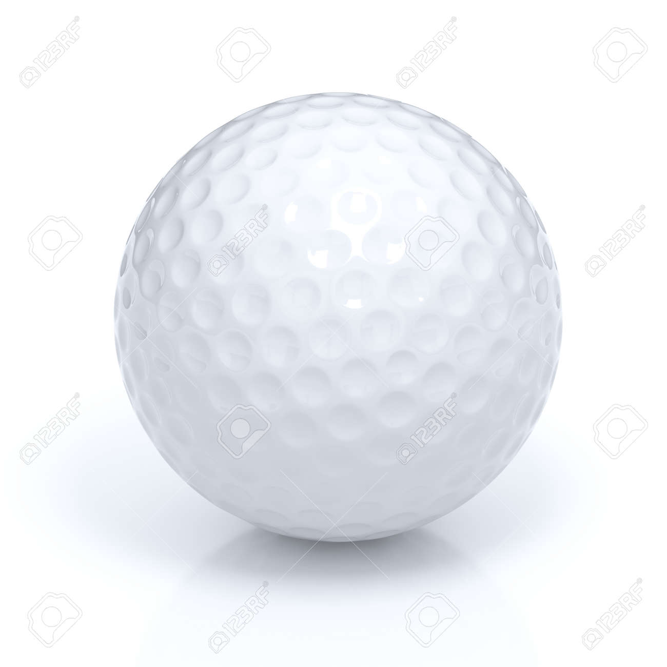 Isolated golf ball with clipping path - 45142020