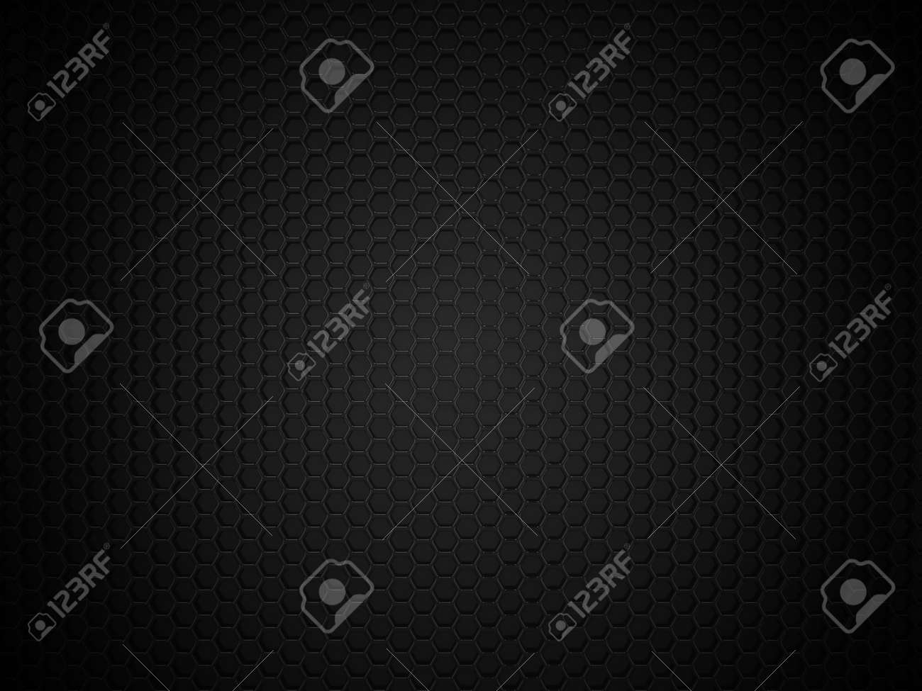 Abstract black hexagonal carbon background - 45142025
