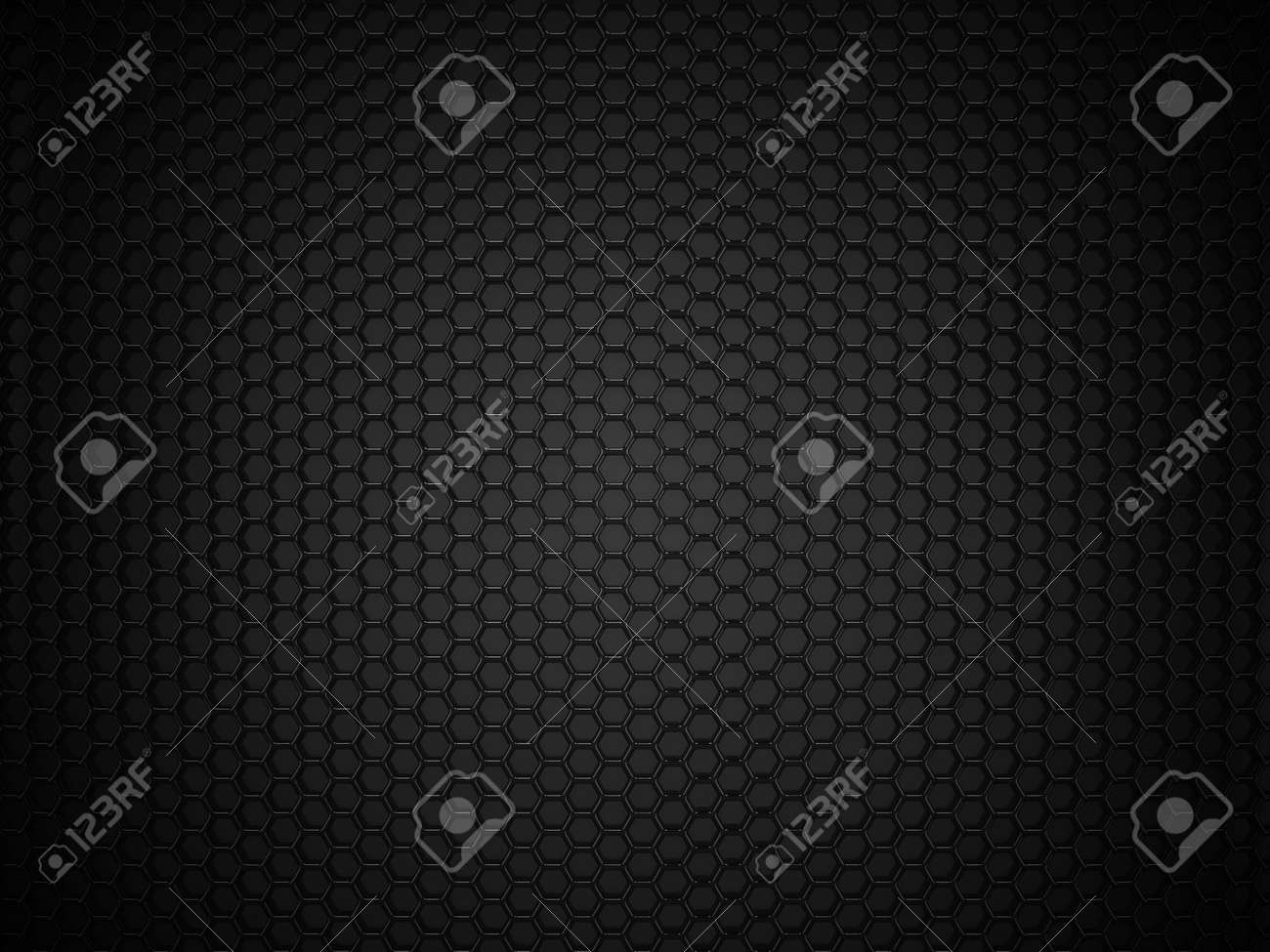 Abstract black hexagonal carbon background - 45148174