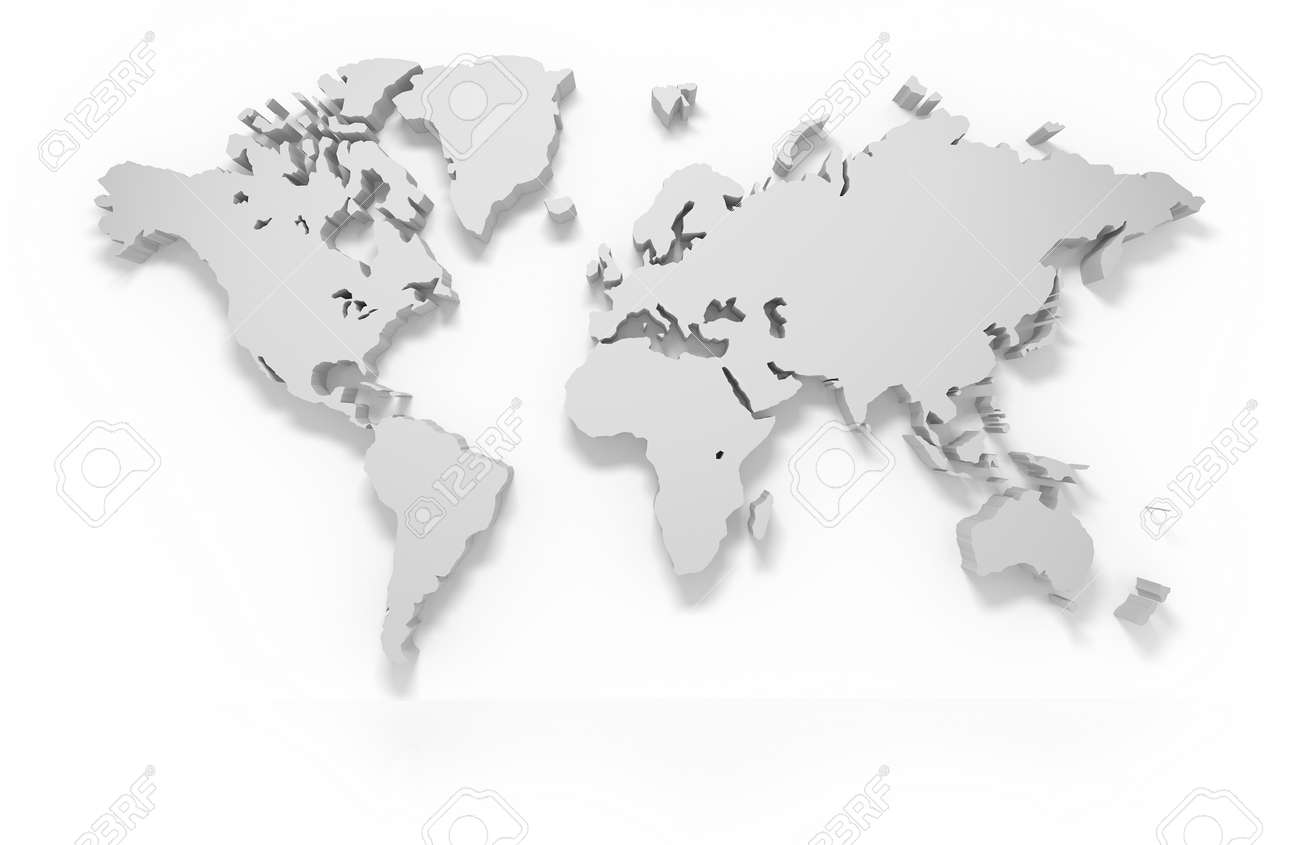 3d world map isolated with clipping path stock photo picture and 3d world map isolated with clipping path stock photo 45235620 gumiabroncs Gallery