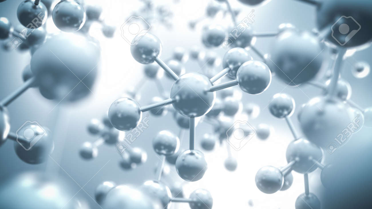 Abstract molecule background - 3D rendered image - 65050984