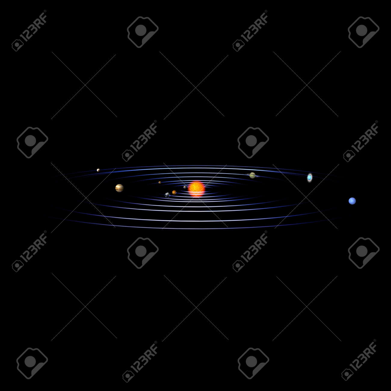 schematical image of the solar system. With Clipping Stock Photo - 5006301
