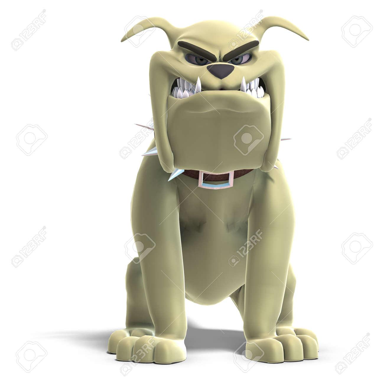 a smart comic dog. 3D render Stock Photo - 5390041