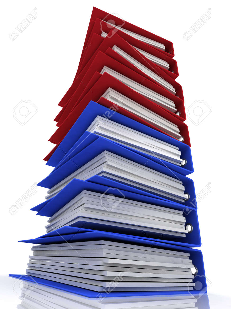 Isolated folders for papers on a white background Stock Photo - 11895513