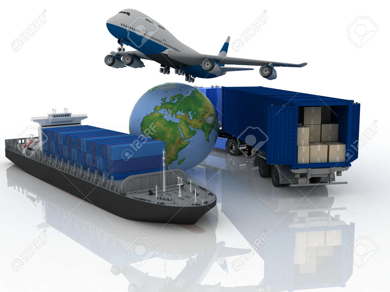 types of transport of transporting are loads. Stock Photo - 11895901