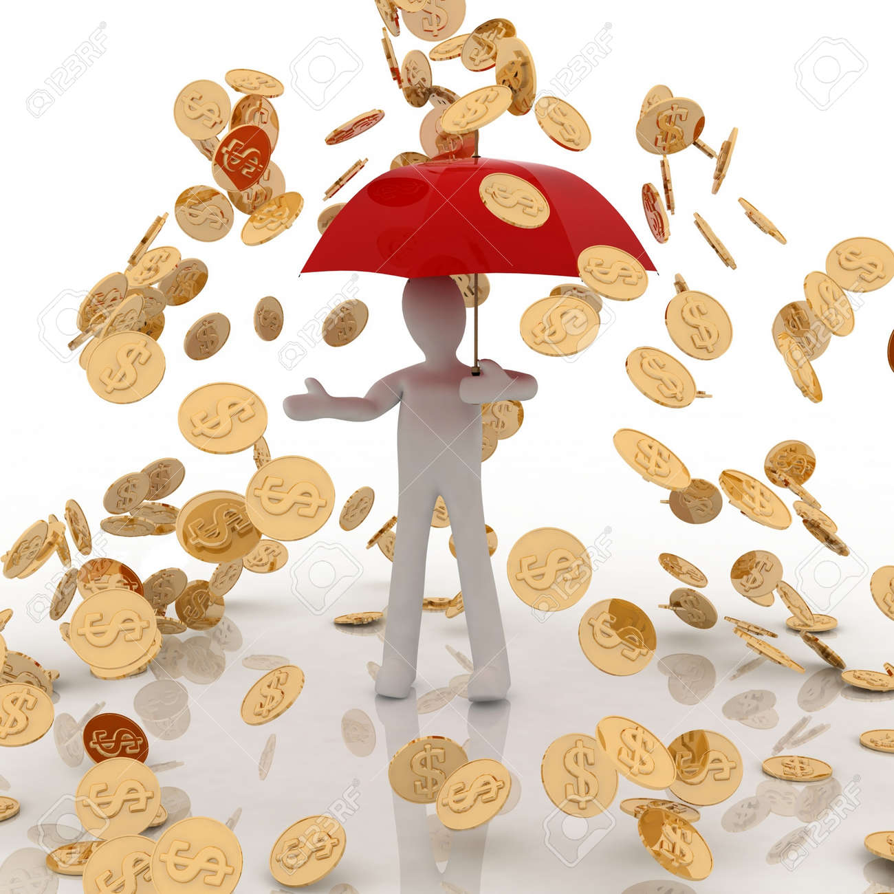 raining gold coins Stock Photo - 11946678