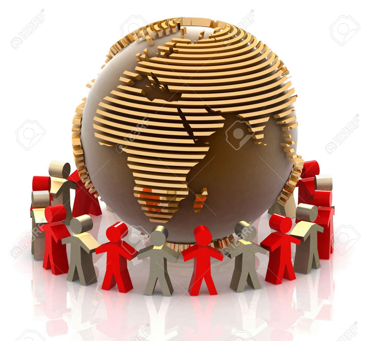 World partnership. 3d image isolated on white background. Stock Photo - 11946817