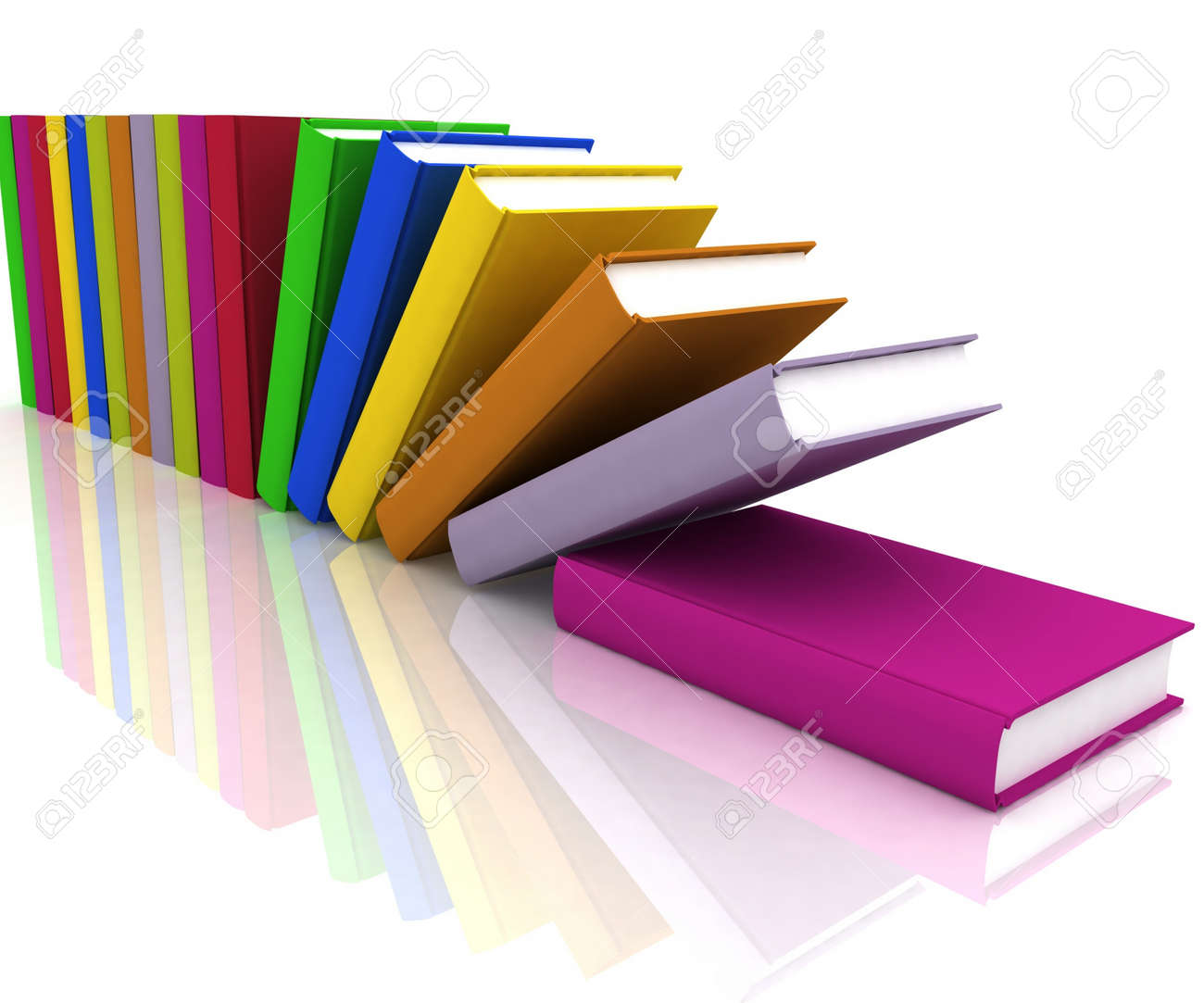 books isolated on background white Stock Photo - 11948413