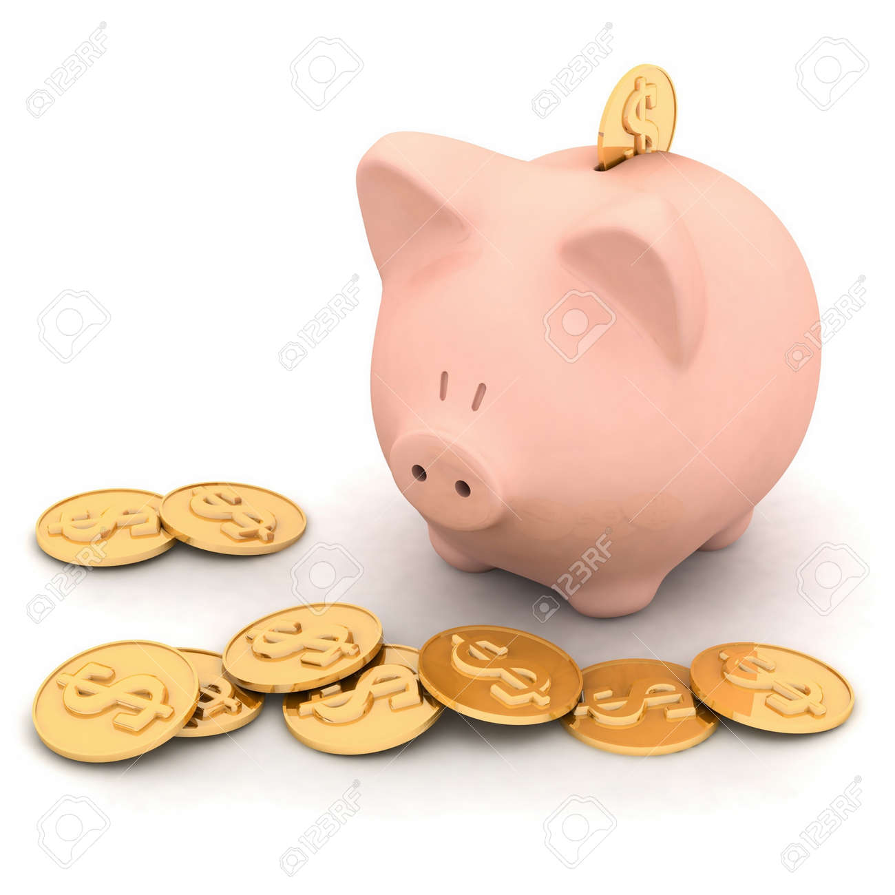 isolated piggy bank Stock Photo - 12051677
