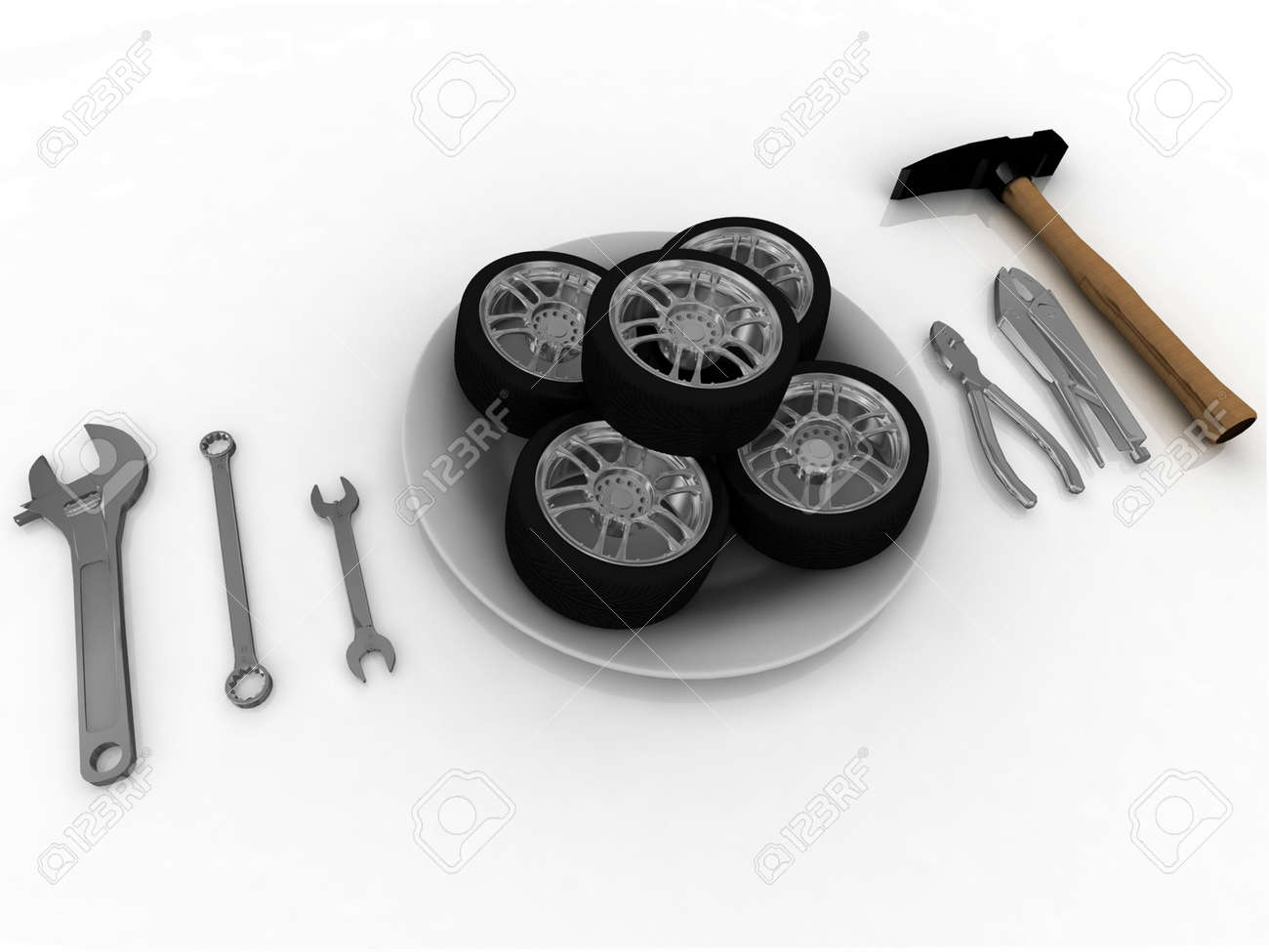 service and repair wheels Stock Photo - 12051841