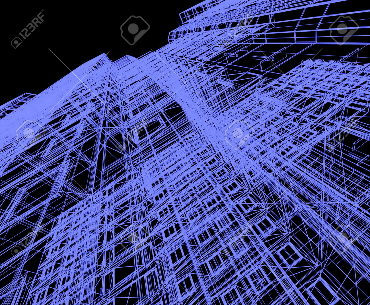 abstract modern architecture Stock Photo - 12114869